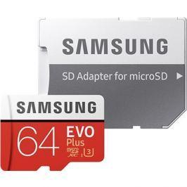 Samsung MicroSDXC 64GB EVO Plus UHS-I U3 + SD adaptér