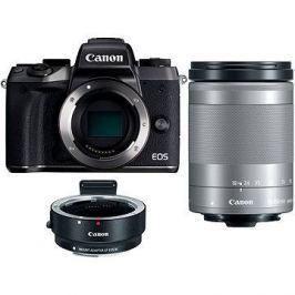 Canon EOS M5 + 18-150mm IS STM stříbrný + adaptér EF-EOS M