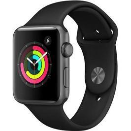 Apple Watch Series 3 42mm GPS Vesmírně šedý hliník s černým sportovním řemínkem
