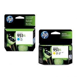 HP CN046AE č. 951XL azurová + HP CN048AE č. 951XL žlutá