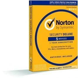 Symantec Norton Security Deluxe, 1 uživatel, 5 zař, 12 měs, 3 LICENCE ZA CENU 2  (elektronická licen