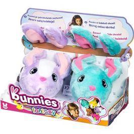 Bunnies Fantasy Králíček s magnetky - set 2ks fialový a tyrkysový
