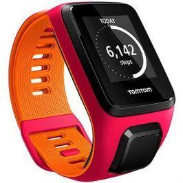 TomTom Runner 3 Cardio (S) růžovo-oranžový