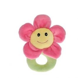 Chrastítko plyšové květinka