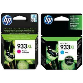 HP CN054AE + HP CN055AE č. 933XL azurová + purpurová