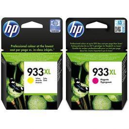 HP CN055AE + HP CN056AE č. 933XL purpurová + žlutá