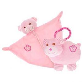 Medvídek růžový - chrastítko + usínáček
