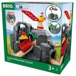 Brio World 33889 Jeřáb a horský tunel Kert