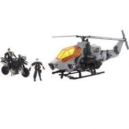 Vojenská helikoptéra a motorka Háztartás