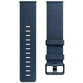 Fitbit Versa Accessory Band, Leather, Midnight Blue, Large