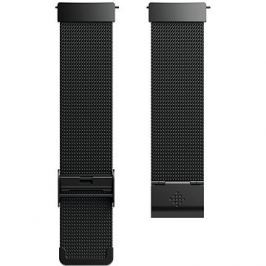 Fitbit Versa Accessory Band, Metal Mesh, Black Stainless Steel, Standard