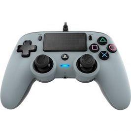 Nacon Wired Compact Controller PS4 - stříbrný Kert