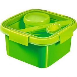 CURVER SMART TO GO 1,1l s příborem, mističkou a táckem - zelená