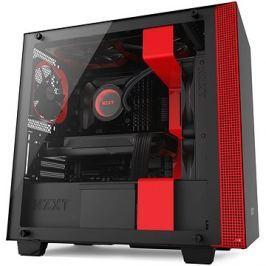 NZXT skříň H400 černo-červená