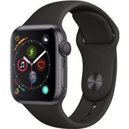 Apple Watch Series 4 40mm Vesmírně černý hliník s černým sportovním řemínkem