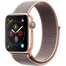 Apple Watch Series 4 40mm Zlatý hliník s pískově růžovým provlékacím sportovním řemínkem
