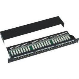Datacom 24x RJ45, přímý, CAT5E, STP, černý, 1U
