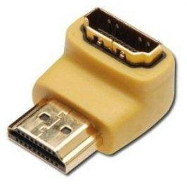 PremiumCord HDMI M --> HDMI F, podpora 1080p HDTV - zahnutá