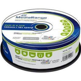 MediaRange DVD-R Inkjet Fullsurface Printable 25ks cakebox