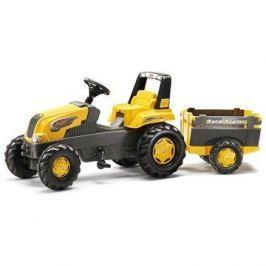 Šlapací traktor Rolly Junior s Farm vlečkou - žlutý