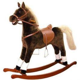 Bino Velký plyšový houpací kůň - hnědý Kültér és szabadidő