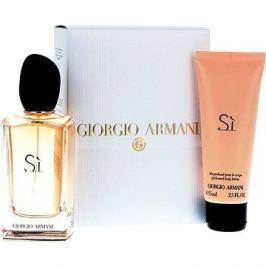 Giorgio Armani Si EDP 100 ml + tělové mléko 75 ml + kosmetická taška dárková sada pro ženy