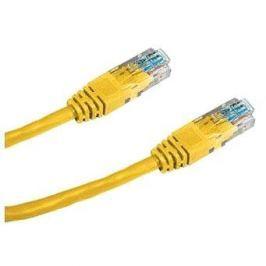 Datacom CAT6, UTP, 0.25m žlutý