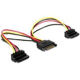 Gembird Cableexpert SATA napájecí na 2x SATA 90°, rozdvojka, 0.15m